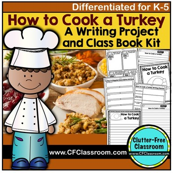 How to Cook a Turkey Writing | Thanksgiving Writing Activity