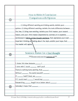 How to Craft an Effective Conclusion for an Opinion (ReadyGen 3.A.13)