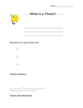 How to Create A Thesis Notes