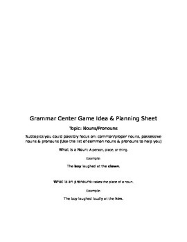 How-to-Create Grammar Games