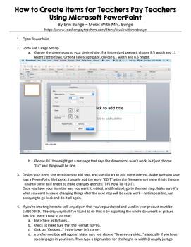 How to Create Items for TeachersPayTeachers Using Microsof
