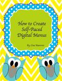 How to Create Self-Paced Digital Menus
