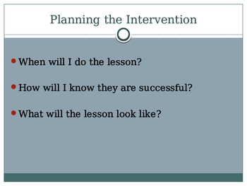 How to Create Small Group Interventions