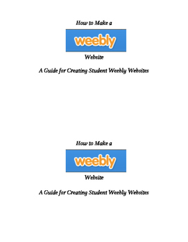 How to Create Weebly Websites:  A Guide for Students