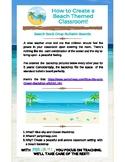 How to Create a Beach Themed Classroom | Bulletin Board Ideas |