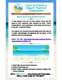 How to Create a Beach Themed Classroom   Bulletin Board Ideas  