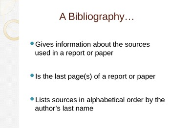How to Create a Bibliography