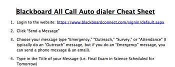 How to Create a Blackboard AutoDialer Message