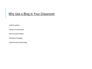 How to Create a Classroom Blog