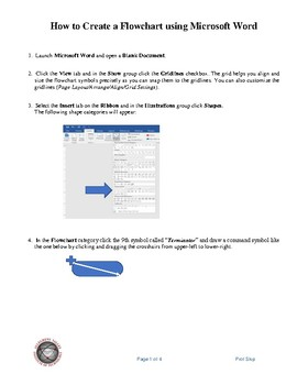 Create a Flowchart using Microsoft Word
