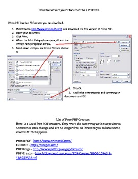 How to Create a PDF