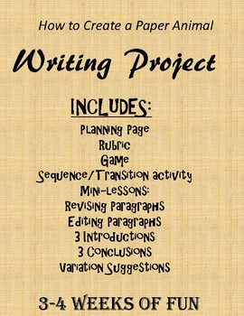 How to Create a Paper Animal Writing Project (14-19 Days)