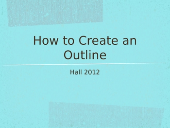 How to Create a Paper Outline Powerpoint