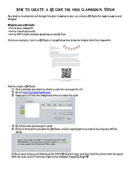 How to Create a QR Code for your Classroom