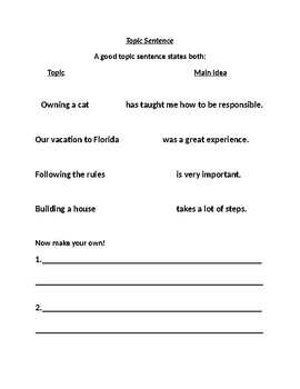 How to Create a Solid Topic Sentence