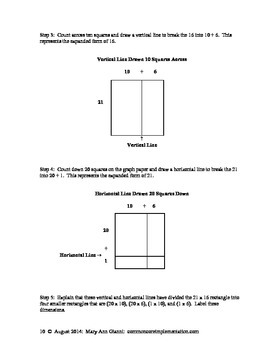 4.NBT.B.5 How to Create an Area Model Using Base-Ten Pieces