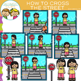 How to Cross the Street Clip Art
