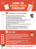 How to Crush Tests Checklist - Printable Classroom Poster