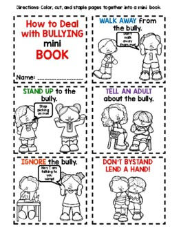 How to Deal with Bullies Mini Book