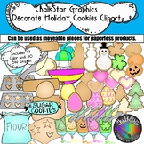 How to Decorate Holiday Cookies Clip Art- Chalkstar Graphics