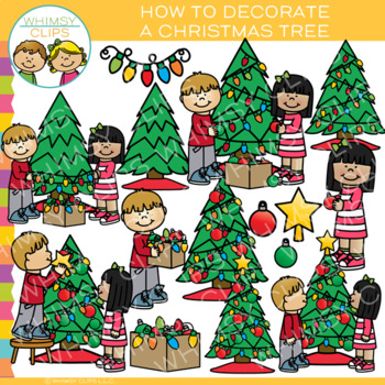 How to Decorate a Christmas Tree: Sequencing and Christmas Clip Art