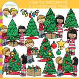 How to Decorate a Christmas Tree Clip Art