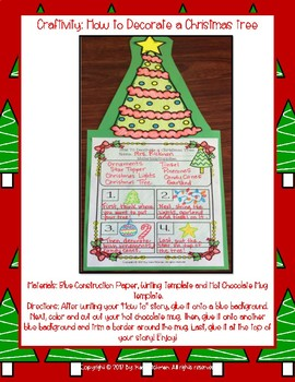 How to Decorate a Christmas Tree: Craftivity and Writing