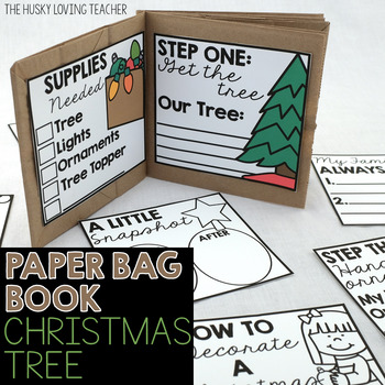 How to Decorate a Christmas Tree Paper Bag Book