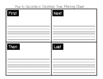 How to Decorate a Christmas Tree: Sequence Writing Craft