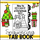 How to Decorate a Christmas Tree- Winter Sequencing TAB BOOK