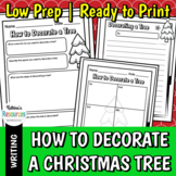 How to Decorate a Christmas Tree - Winter Writing Activity