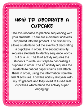 How to Decorate a Cupcake : Sequence