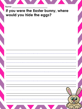 Easter Themed Writing Prompts: Bunnies and Easter Eggs