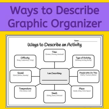 How to Describe: A Graphic Organizer