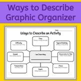 How to Describe: A Graphic Organizer