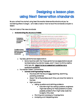 How to Design a Lesson with Next Generation Science Standards