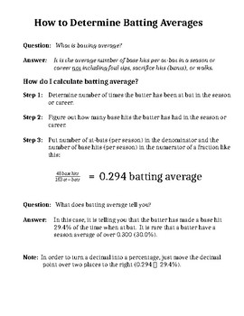 How to Determine Batting Averages