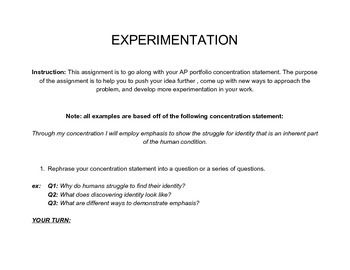 How to Develop Experimentation in your work
