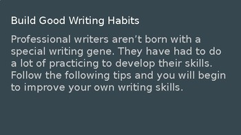 How to Develop Good Writing Habits