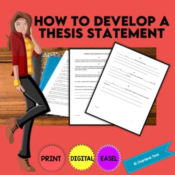 How to Develop a Thesis Statement Google Drive Digital Resource