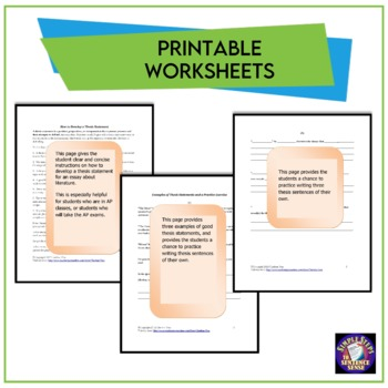 How to Develop a Thesis Statement Google Drive Digital Resource #TptDigital