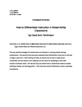 How to Differentiate Instruction in a Mixed Ability Classr