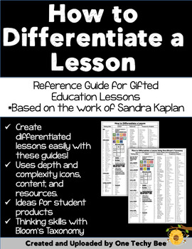 How to Differentiate a Lesson Reference Guide