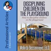 How to Discipline Children on the Playground