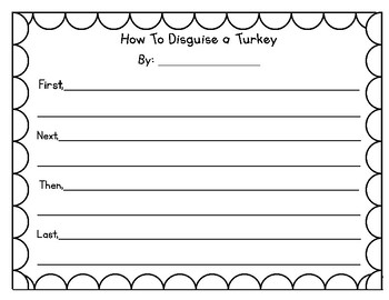 How to Disguise a Turkey Graphic Organizer & Writing Template