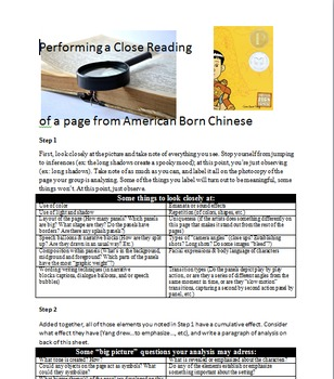 How to Do a Close Reading of a Graphic Novel- American Born Chinese