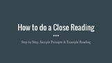 How to Do a Close Reading with Fiction