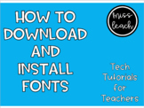 How to Download and Install Fonts (Apple Computer)