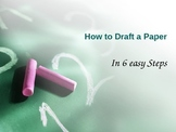 How to Draft a Paper in 6 Steps PowerPoint