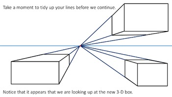 How to Draw 3D Boxes (1-Point Perspective)
